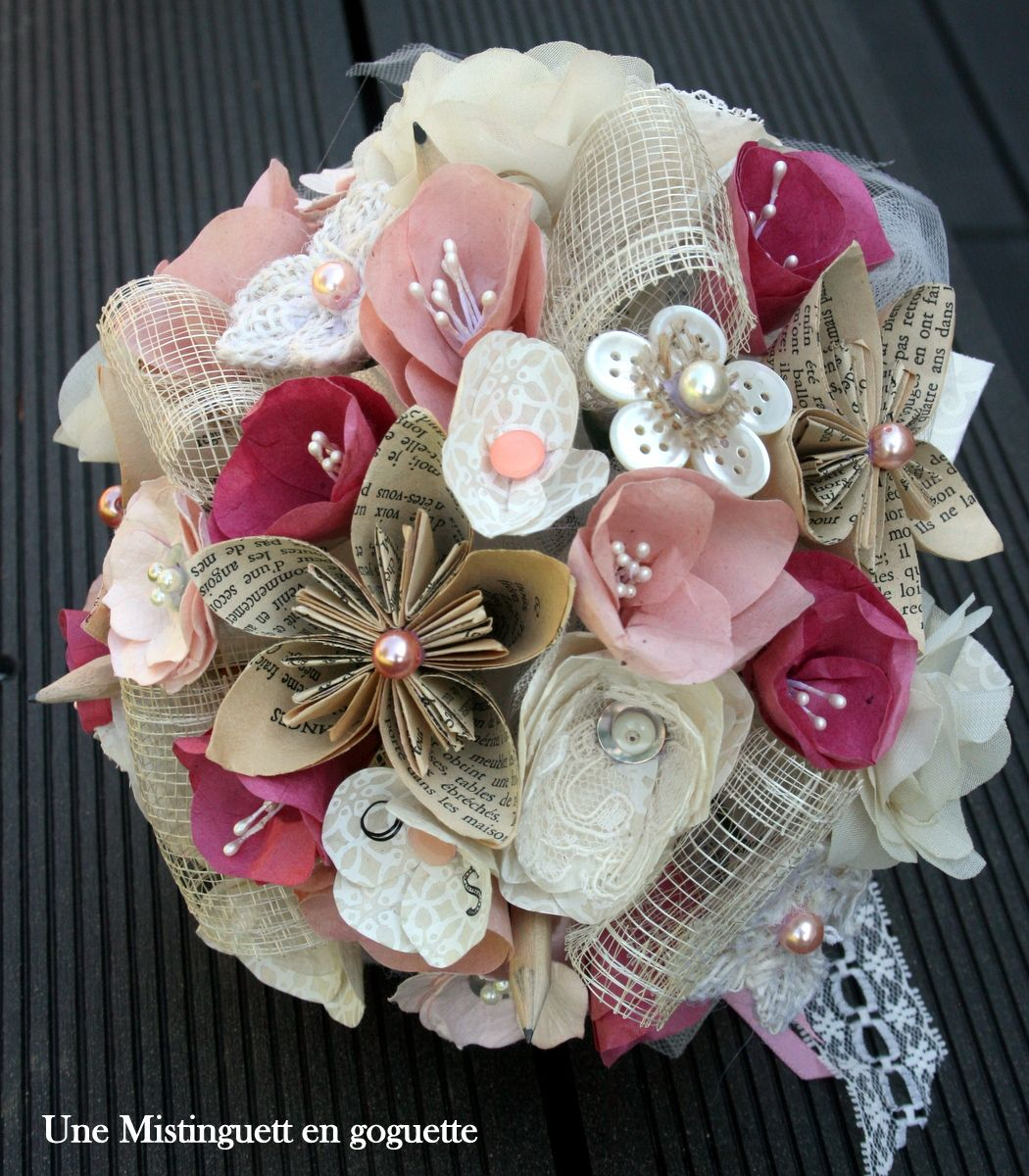 Bouquet De Mariee En Papier