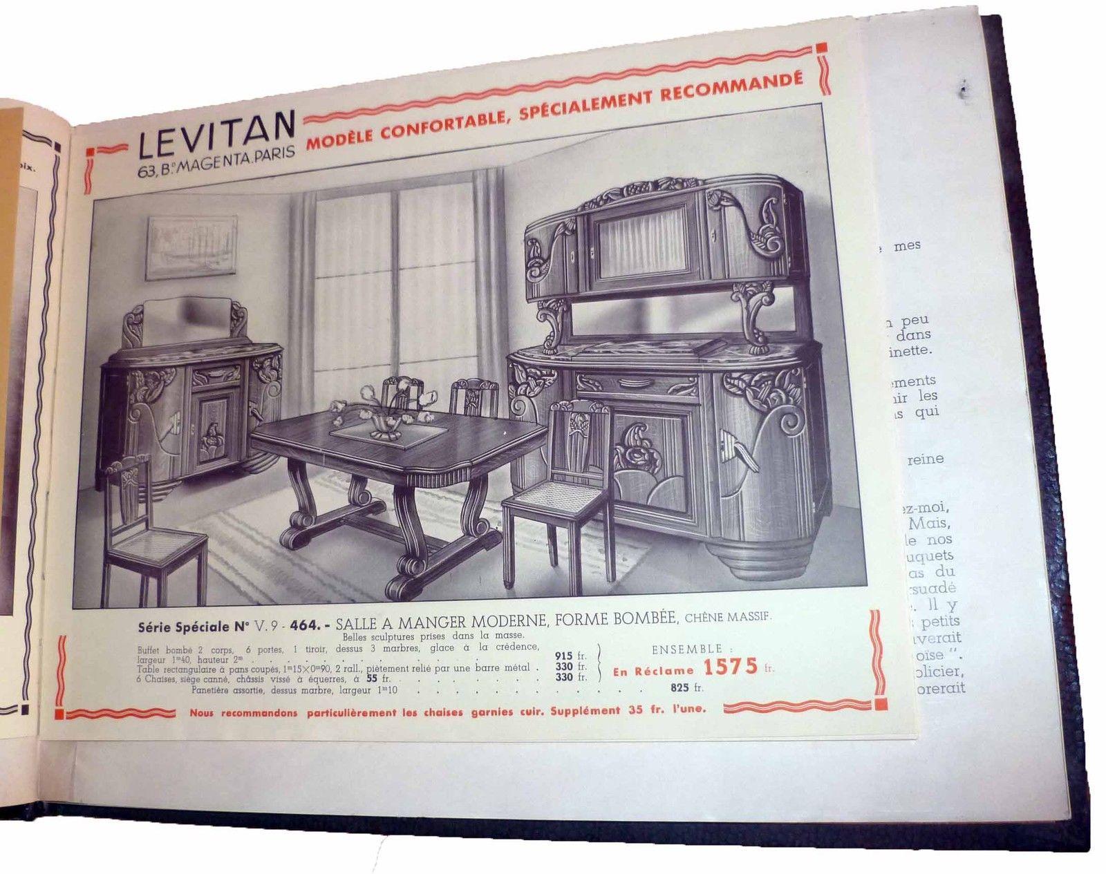 Meubles Ameublement Important Catalogue L Vitan De 1936 Voir  # Catalogue De Meuble