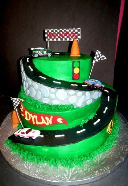 race car birthday cake race track buttercream birthday cake boysbirthdaycake 6938