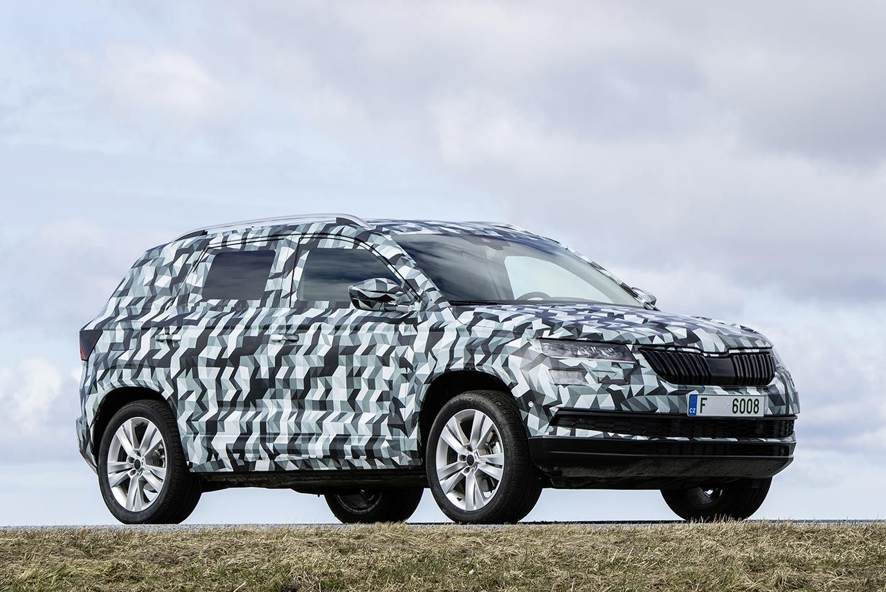 The all new skoda karoq compact suv will make its world premiere on 18 may