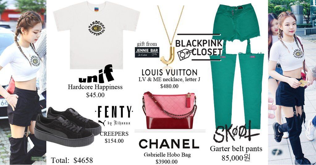 Blackpink Jennie Airport Fashion List Unif Hardcore