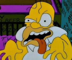 The simpsons homer simpson freaked out look in mirror looks also pin by  on icons pinterest memes futurama and meme rh