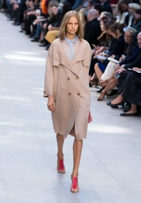 Burberry is nearly synonymous with a perfect trench coat. This slouchy take has an easy feel.