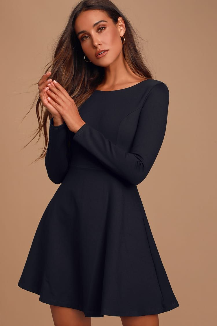 Forever Chic Black Long Sleeve Dress Black Long Sleeve Dress Long Sleeve Dress Black Short Dress [ 1125 x 750 Pixel ]
