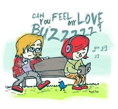 Ilustração música Love Buzz