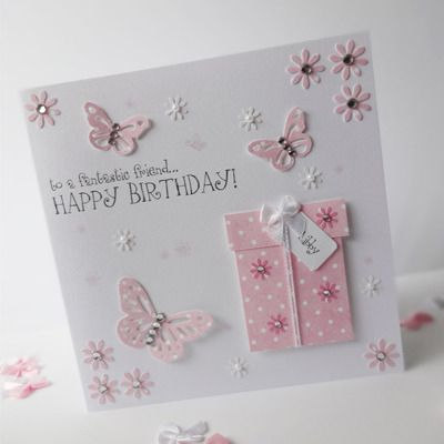 Gorgeous Hand Made Personalised Birthday Card