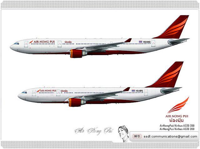Air Nong Pui Livery concept | Livery concept | Aircraft