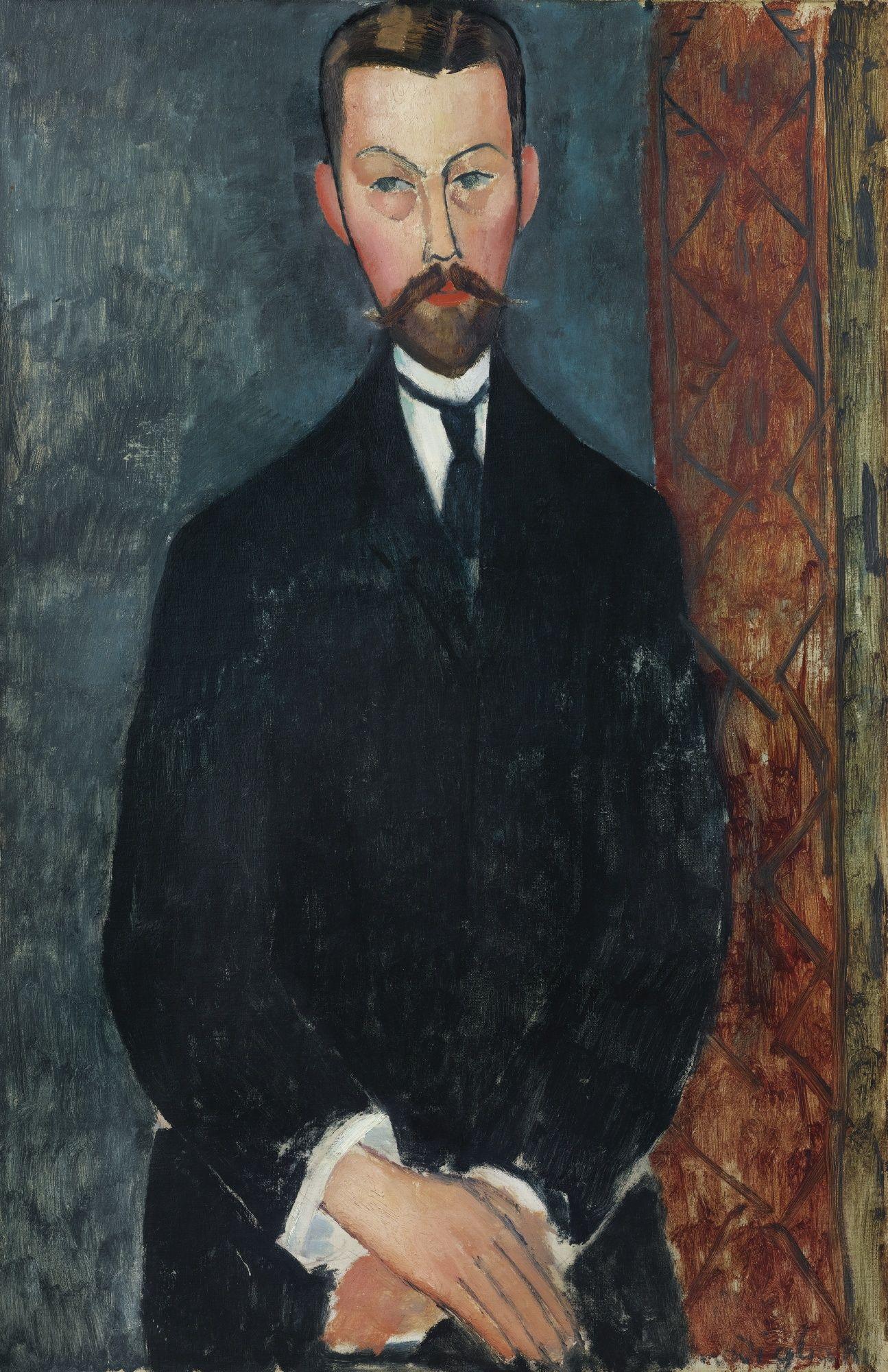 AMEDEO MODIGLIANI 1884 - 1920 PORTRAIT DE PAUL ALEXANDRE signed Modigliani  (lower right) oil on canvas 92 by 60 cm ; 36 1/4 by 23 … | Amedeo  modigliani, Modigliani, Portrait