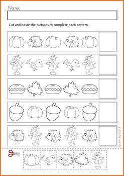 autumn fall math no prep worksheets activities schule arbeitsbl tter arbeitsbl tter. Black Bedroom Furniture Sets. Home Design Ideas