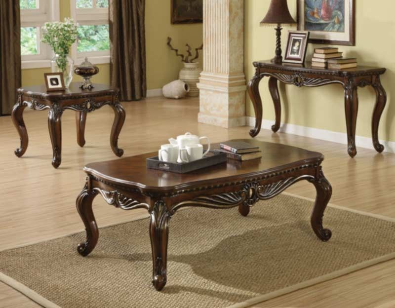 Acme Furniture - Remington 3 Piece Occasional Table Set in Brown ...