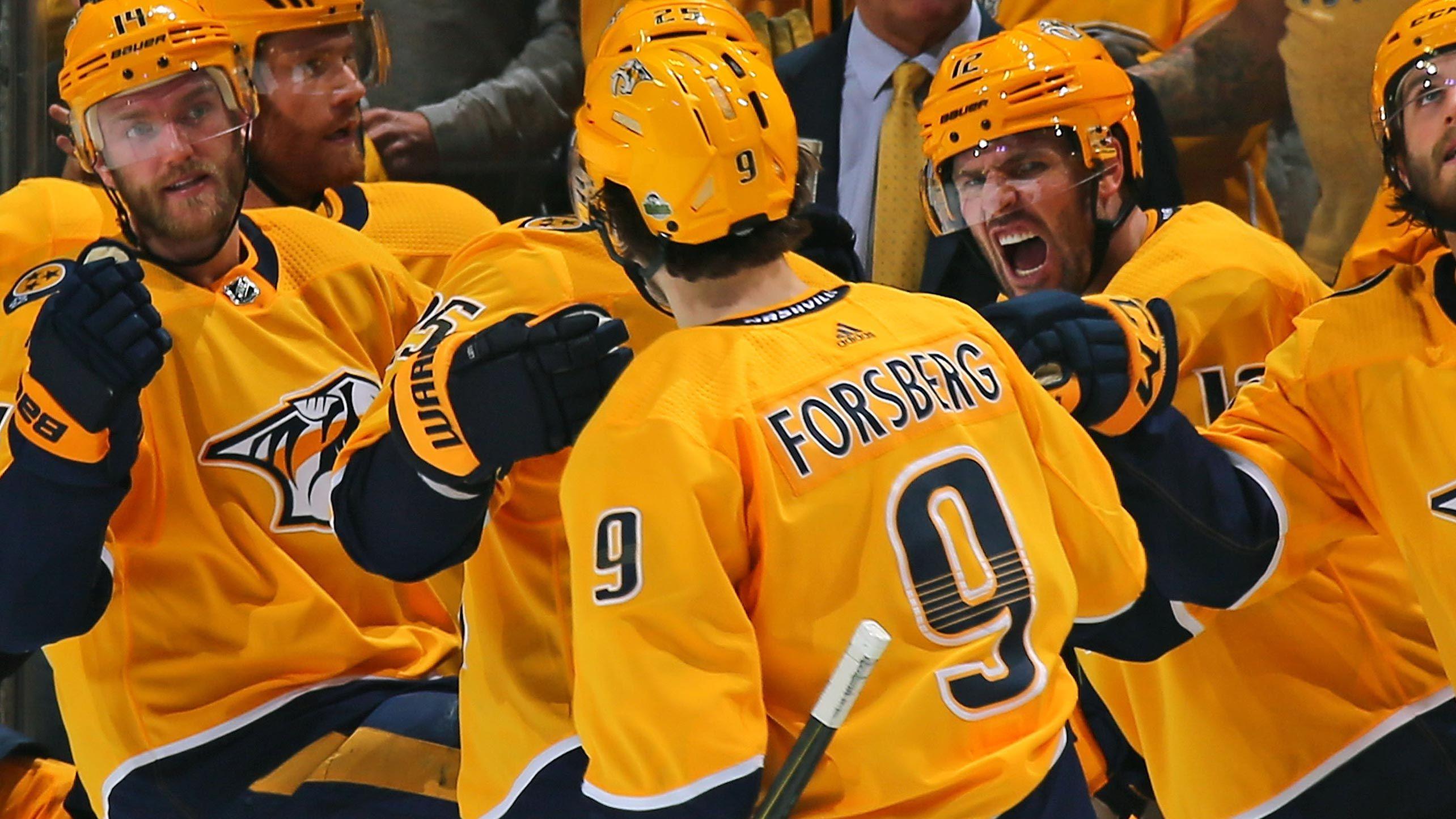 Forsberg S Highlight Reel Goal In Game 1 Nothing New To Predators Nhl Highlights Nashville Predators Hockey Predators Hockey