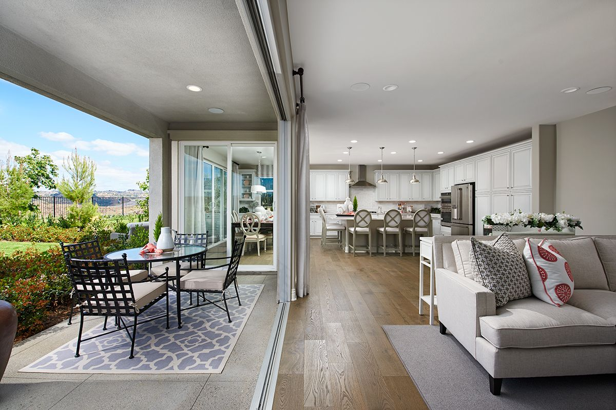 Expansive Sliding Glass Door Smooth Blend Of Indoor Outdoor Living Stella Model Home Covered Patio Great Roo Richmond American Homes Home Outdoor Living