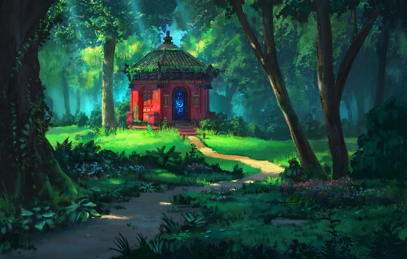 Agoya Shrine, Ben Redekop on ArtStation at https//www