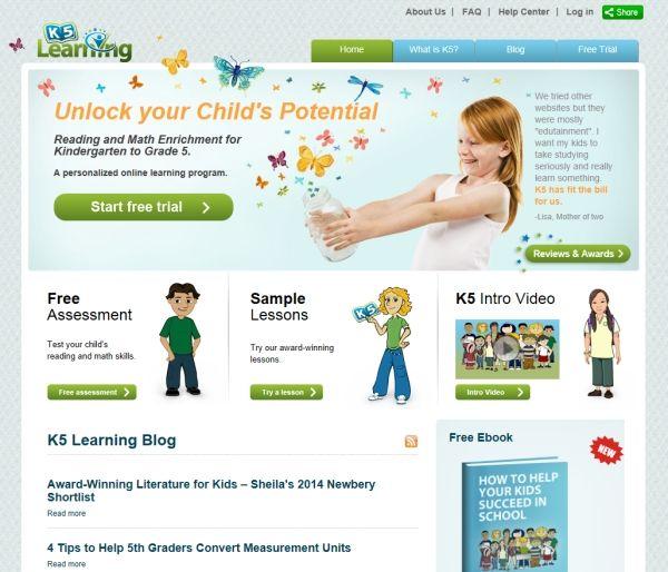 K5 Learning website review free worksheets math grammar phonics ...