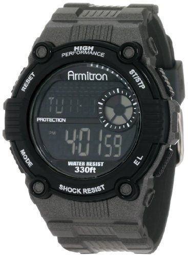 Armitron Men S 40 8243gmg Black Resin Stainless Steel Bezel Chronograph Watch Http Amzn To H84s Sport Watches Digital Sports Watches Armitron