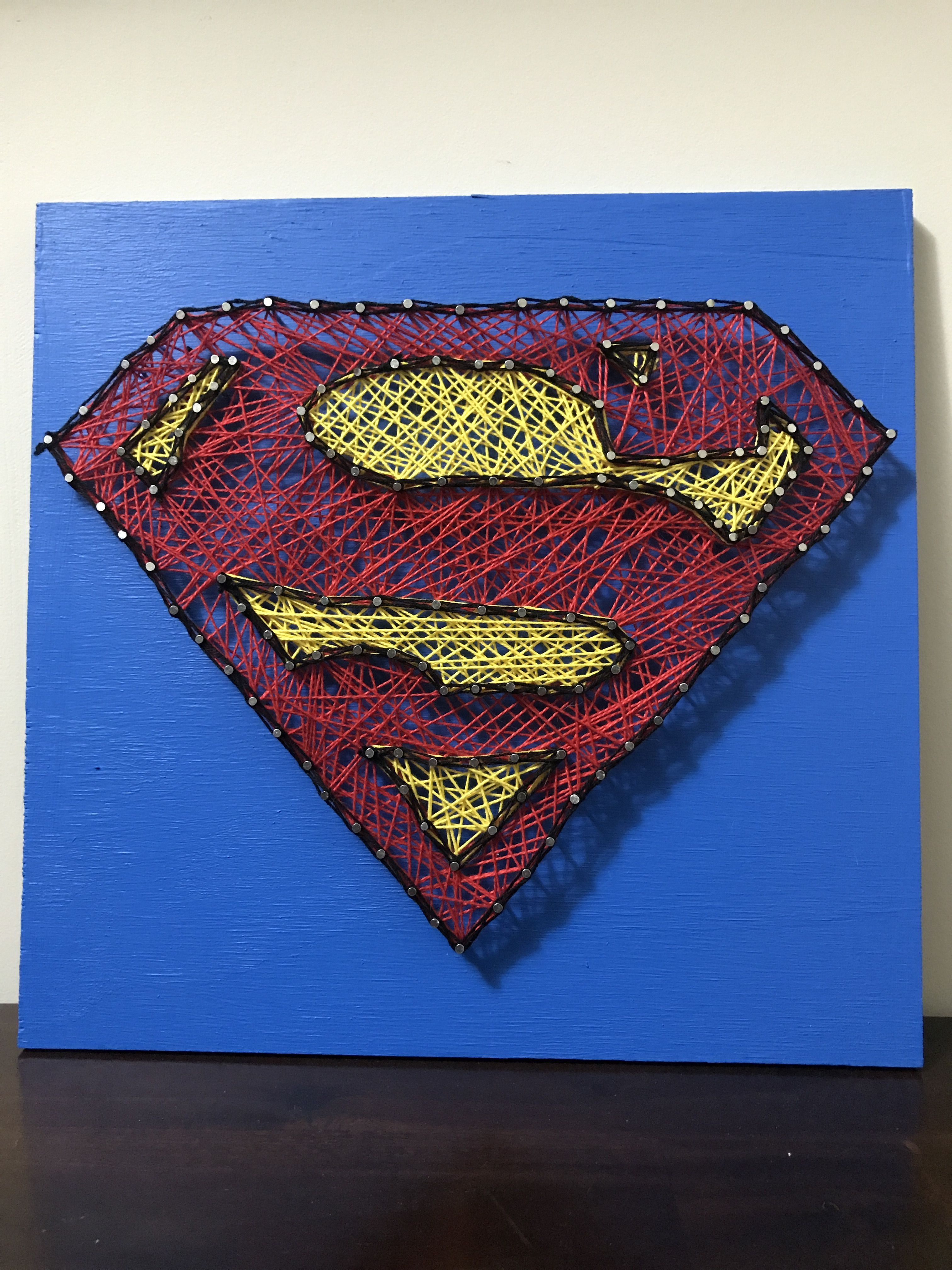 Superhero Logo - String Art - Superman, Batman, Wonder Woman ...