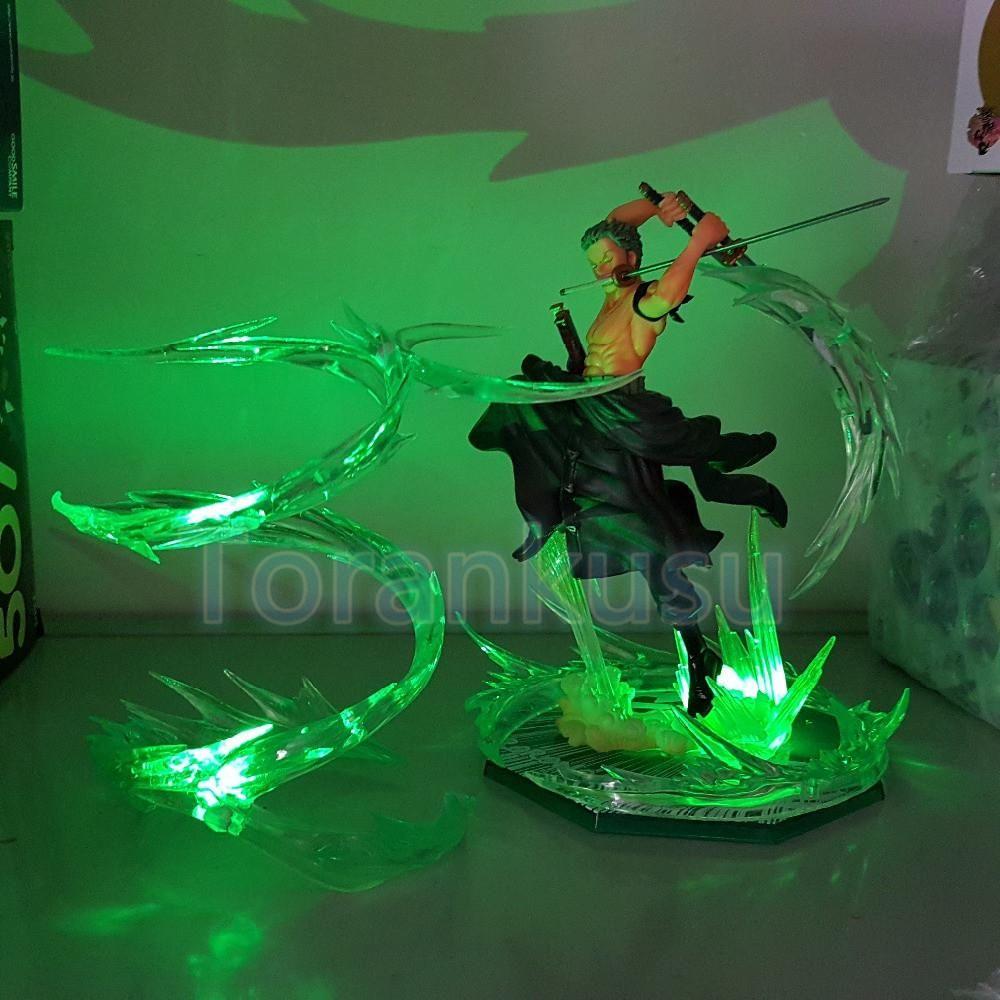 One Piece Roronoa Zoro Action Figure Battle Mode with LED