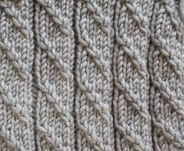 Textured Knitting : Textured knits ribbing with mock cable knit stitches