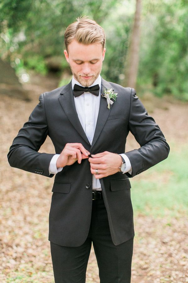 Dapper groom: http://www.stylemepretty.com/2016/05/17/muted-earth-tones-inspired-wedding-design/ | Photography: Elate Photo - http://www.elatephoto.com/