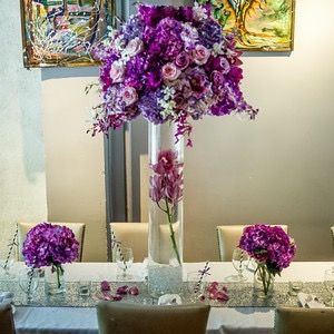 centerpieces and table setting by primrose couture event