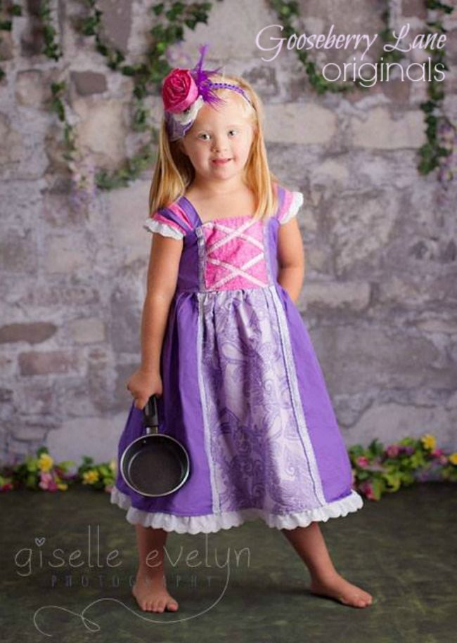Rapunzel Dress 1 - Cotton would be so much cooler than those store ...