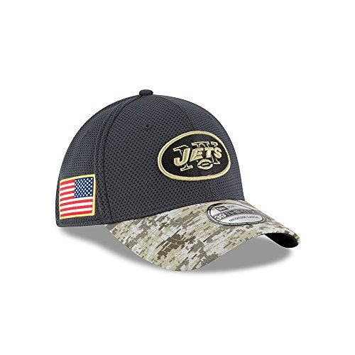 1e1b7e6e3b428e ... uk mens new era nfl new york jets 16 salute to service sideline hat  camo size