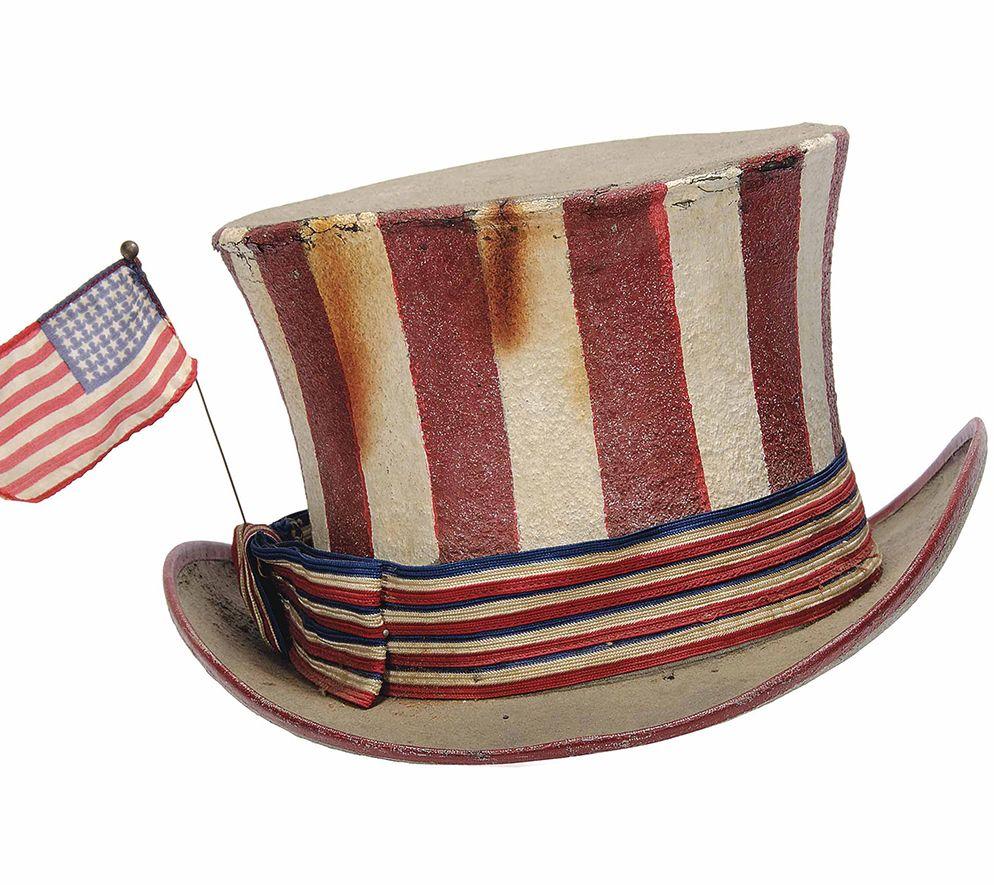Epic Jerry Garcia 1967 Uncle Sam Rwb Hat Sold