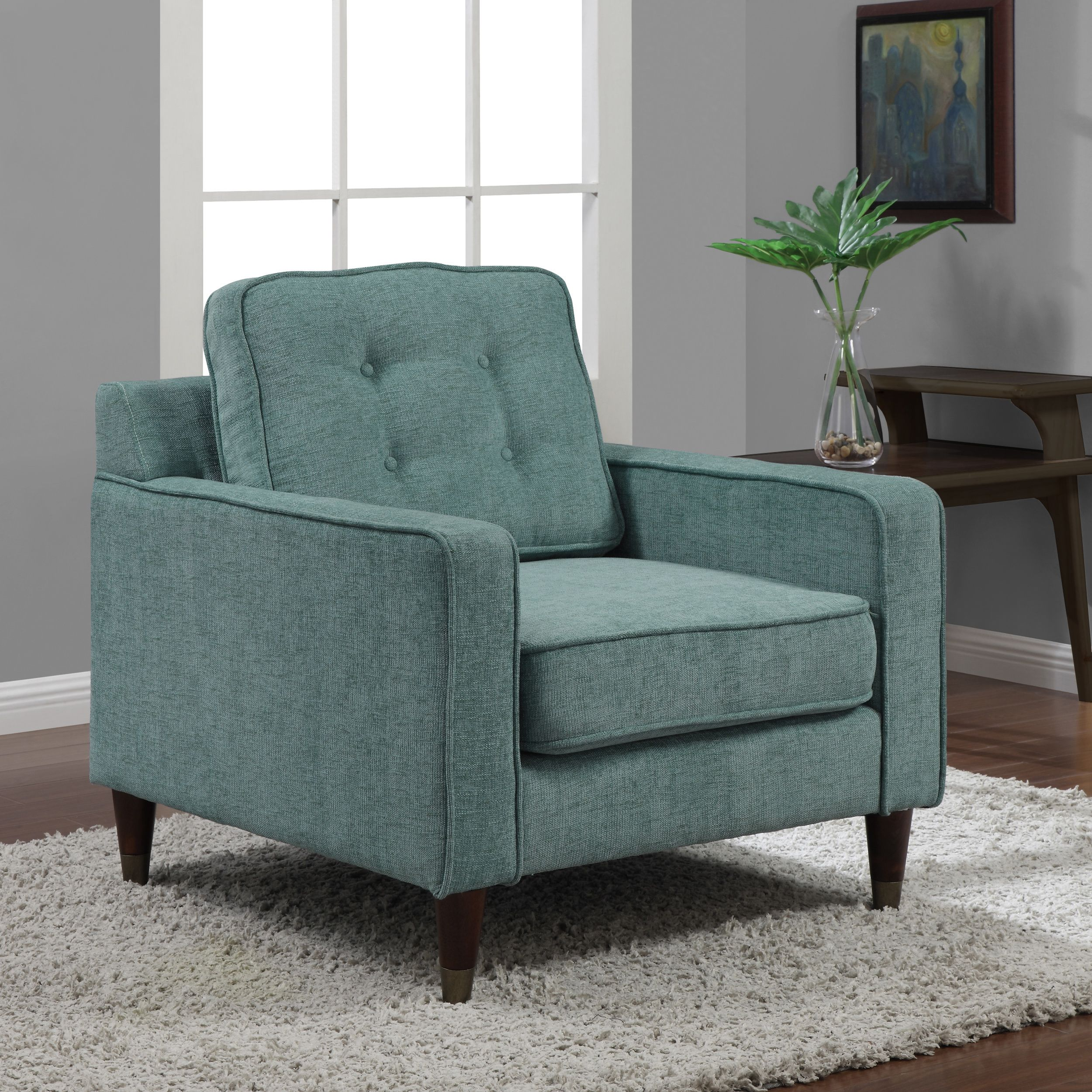 Jackie Aqua Arm Chair  Overstock Shopping  Great Deals On Living Unique Overstock Living Room Chairs Design Inspiration