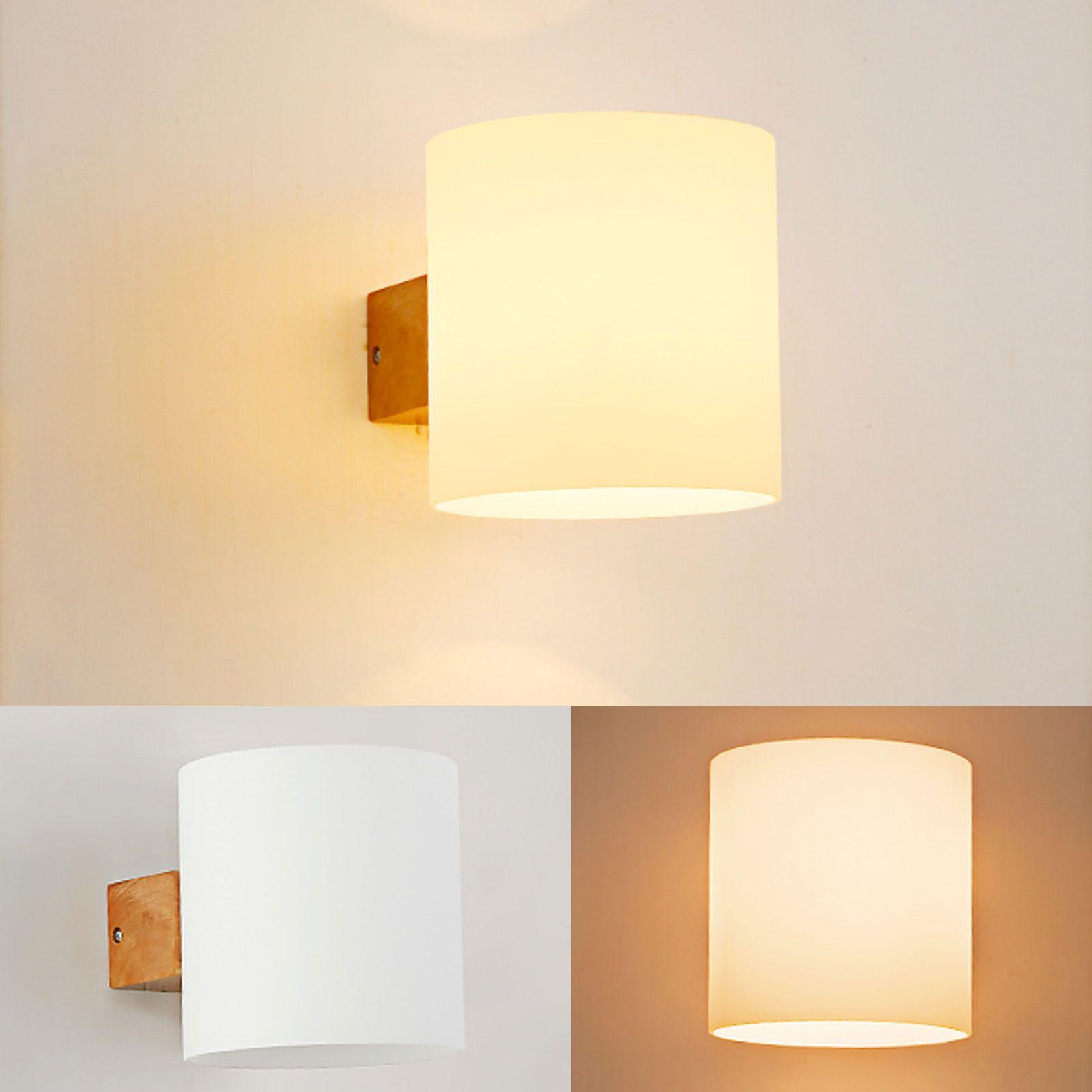 Ranpo modern wooden wall lamp e base sconce hallway bedroom home