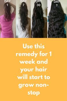 Use This Remedy For  Week And Your Hair Will Start To Grow Non Stop Pinterest Natural Remedies Coconut Oil And Remedies