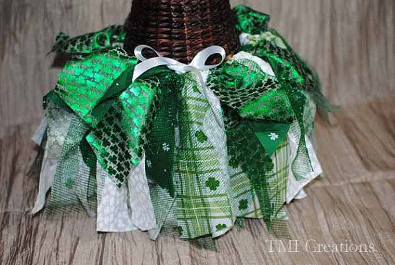 Custom Made St. Patricks Day Rag Tutu Skirts by TMIcreations, $30.00