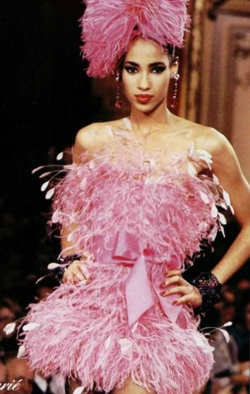 2c210b1dd07 Yves St. Laurent feather dress, 1987 | Vintage Couture and Designer ...