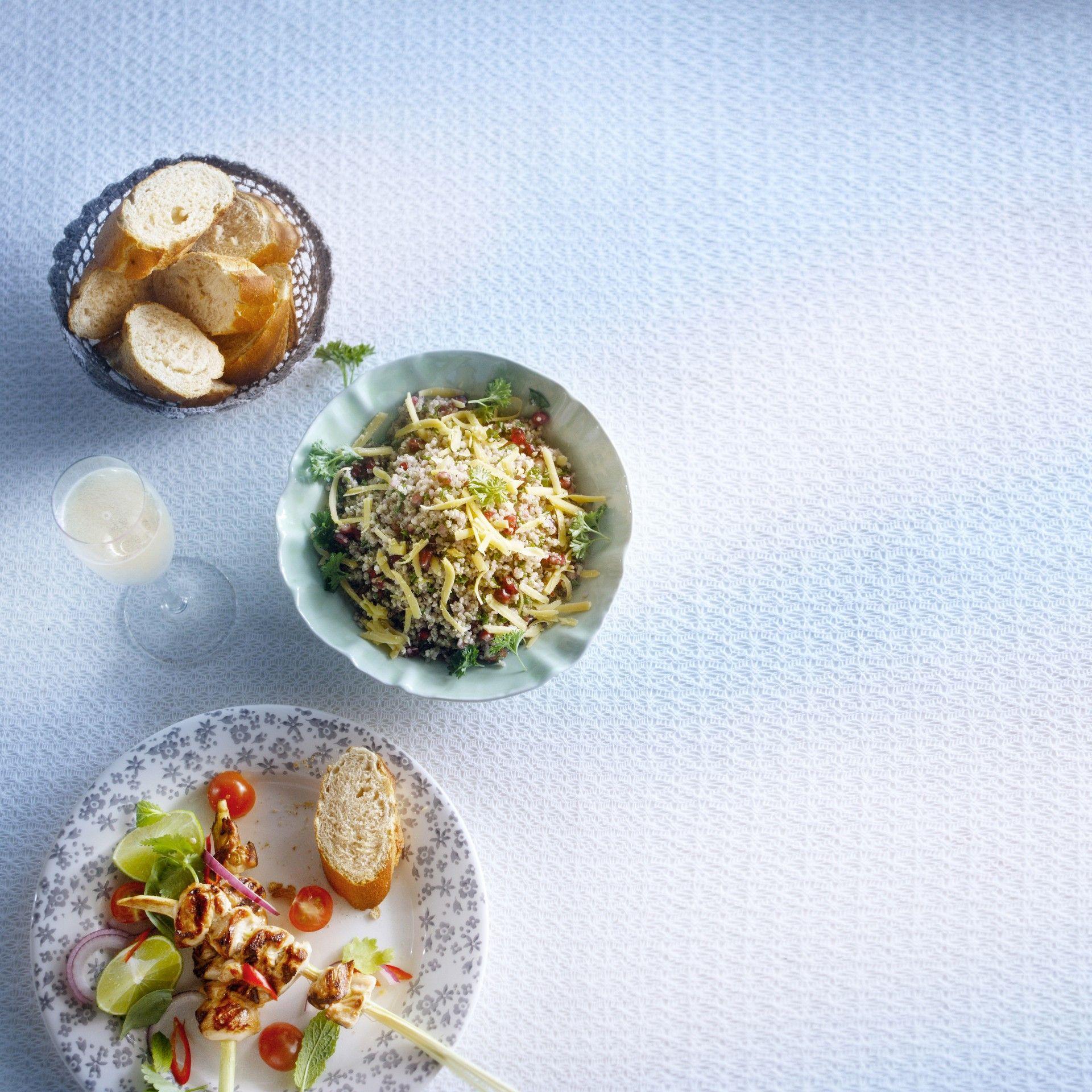Jan Linders - Peterseliesalade met quinoa en granaatappel (bijgerecht voor 4 personen)