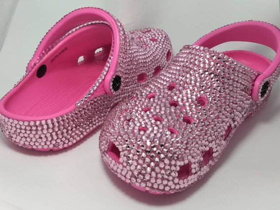 Crocs Custom Made with Crystals Pink in 2020