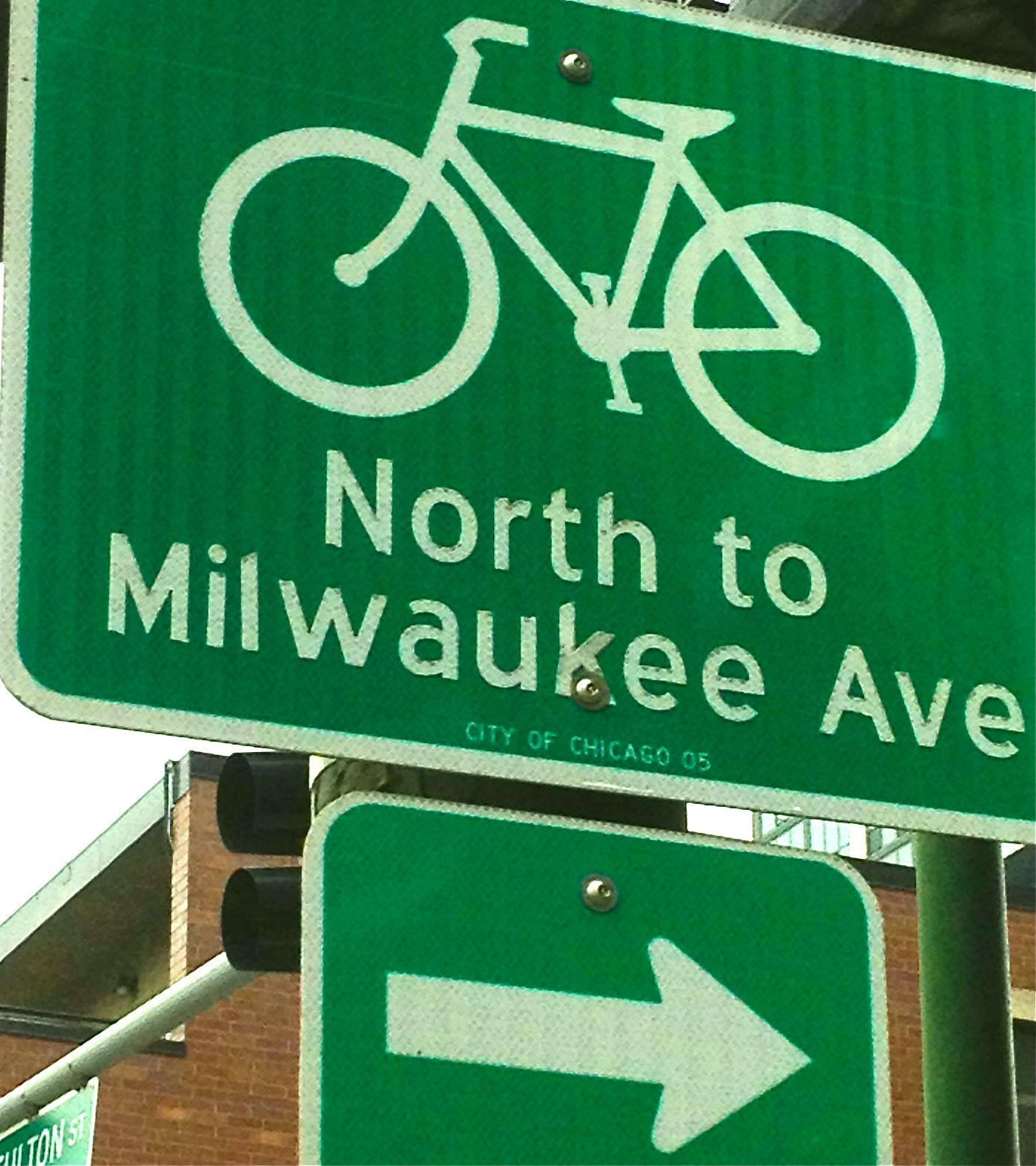 Chicago Street Sign Showing The Way To The Beloved Hipster