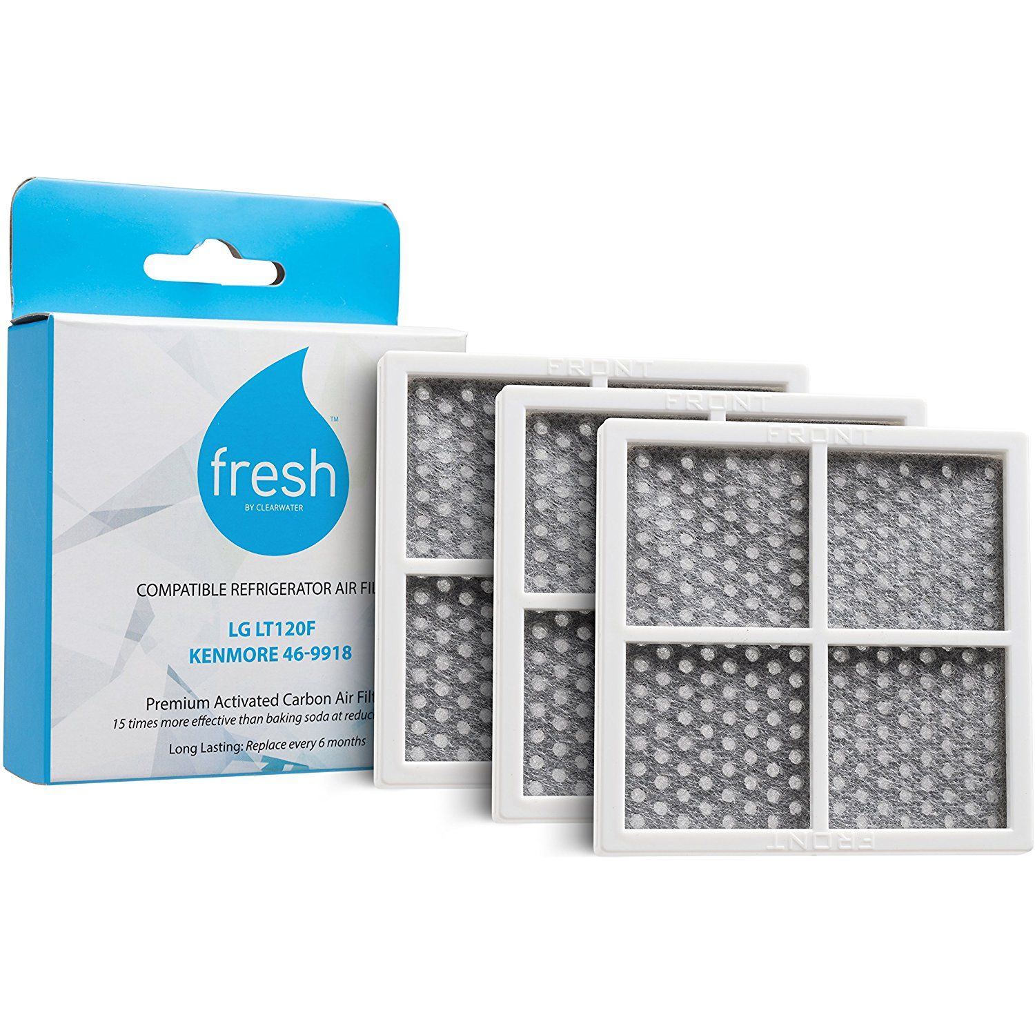 Fresh Lg Lt120f Kenmore 469918 Replacement Refrigerator Air Filter 3 Pack You Can Find More Kenmore Activated Carbon Air Filter Carbon Air Filter