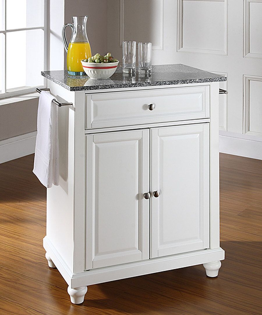 Look at this White Cambridge Solid Granite Top Portable