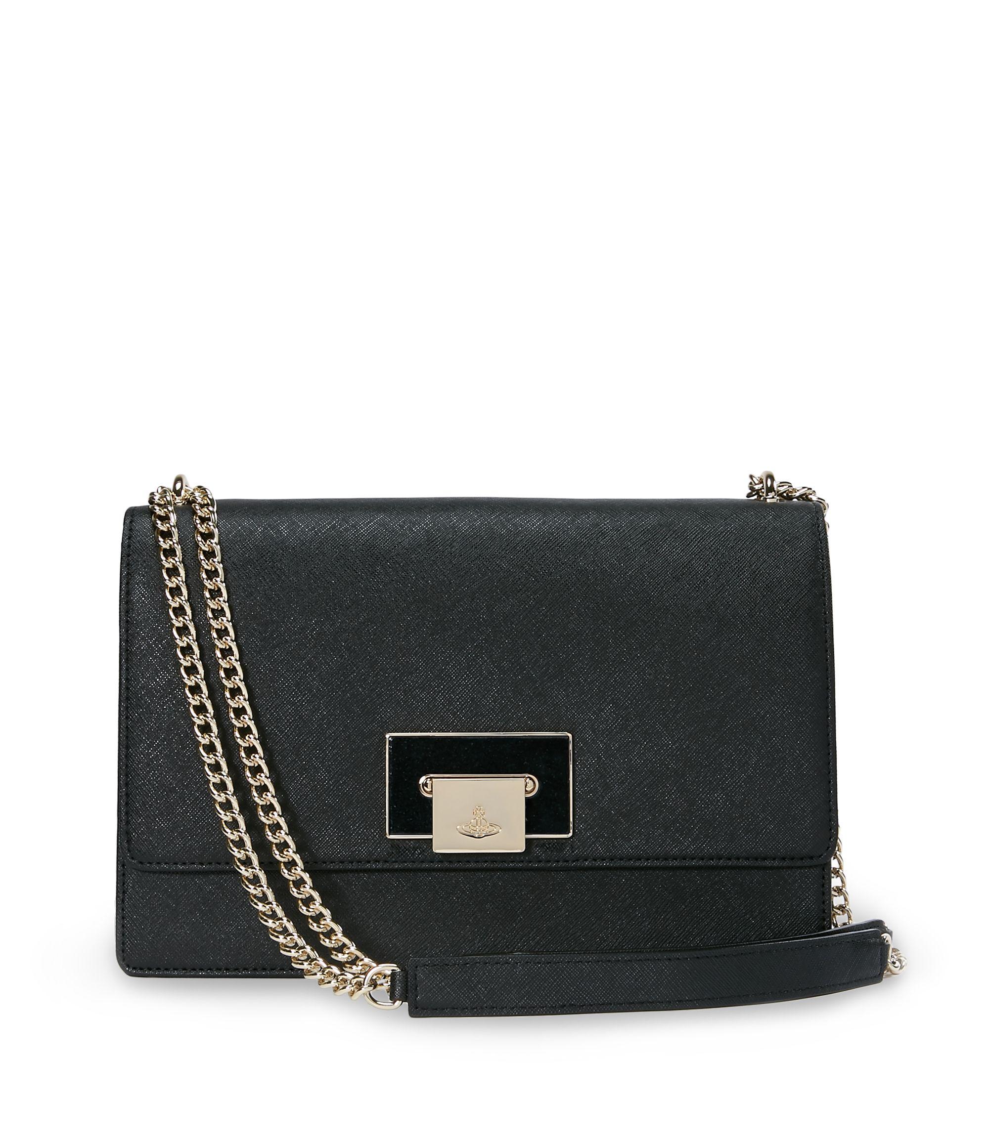 0a1881a941 VIVIENNE WESTWOOD Black Opio Saffiano Bag 131021. #viviennewestwood #bags  #shoulder bags #patent #glitter #