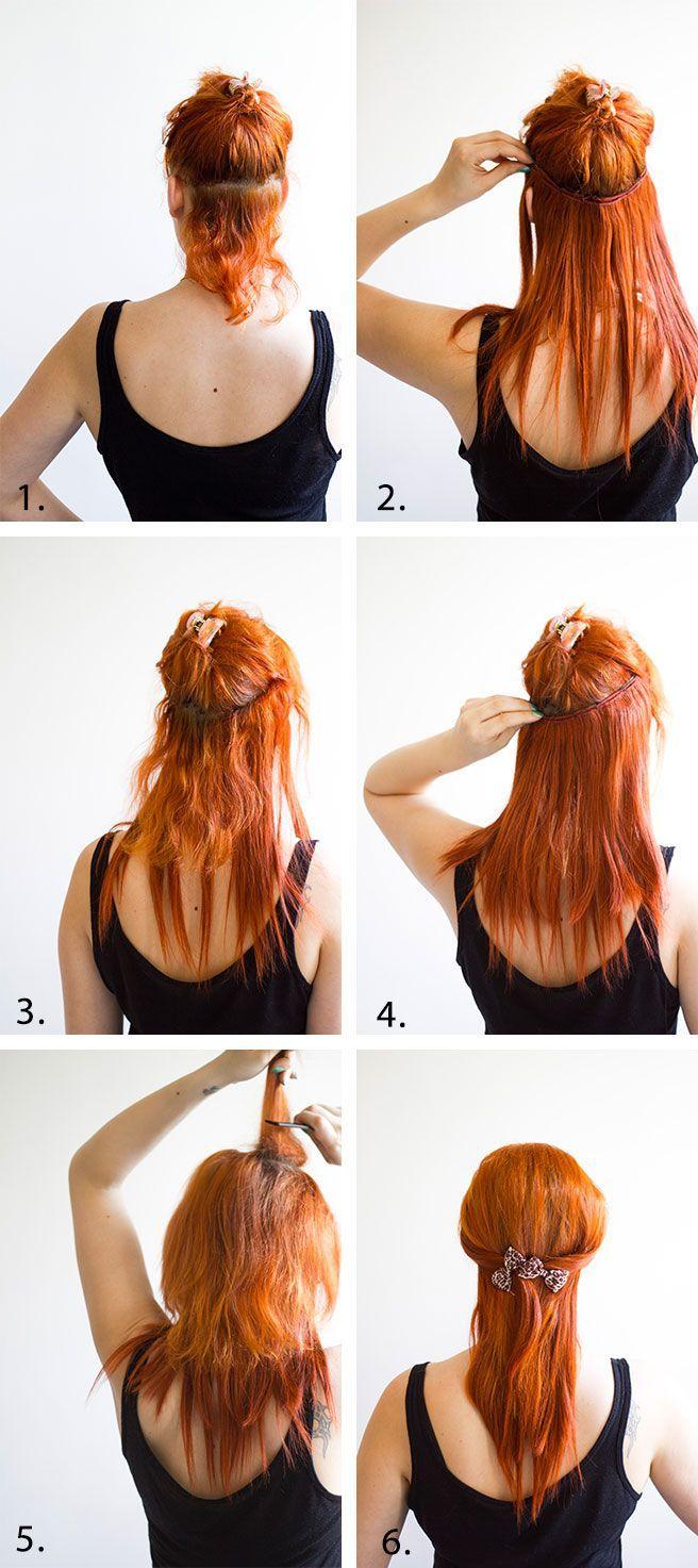 Hair Extension Diy Tutorial Cool Red Hair Extensions Pinterest