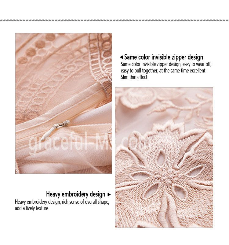 Women Summer Embroidered Lace Pleated Dress