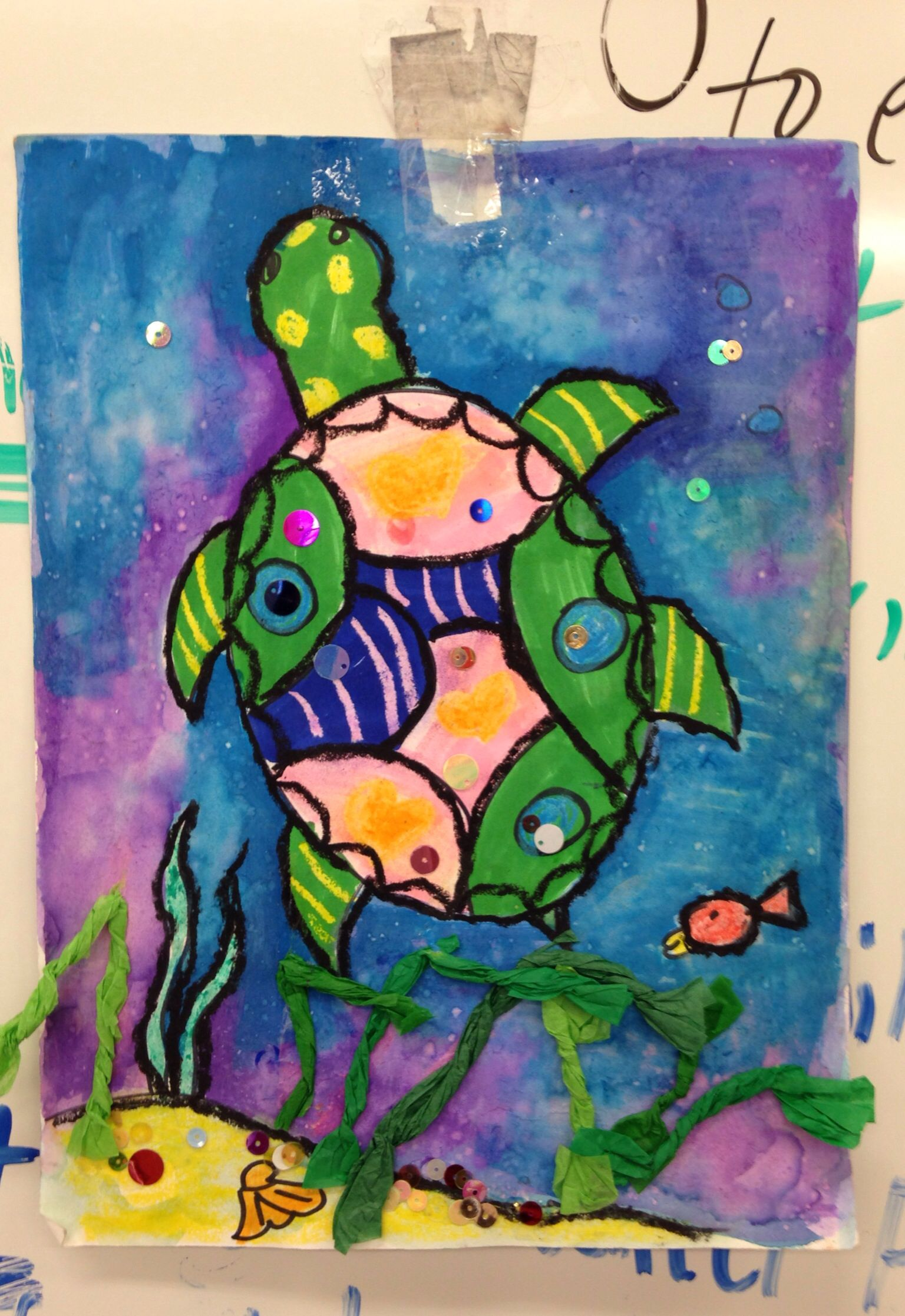 Oaxacan Turtle Painting With 1st Grade Elementary Art Projects