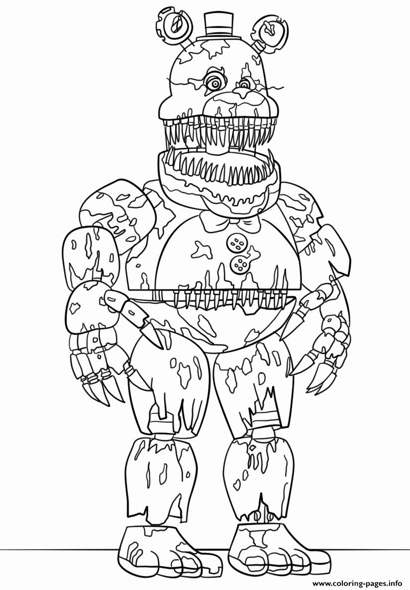 Funtime Foxy Coloring Page Fresh Funtime Freddy Coloring Pages