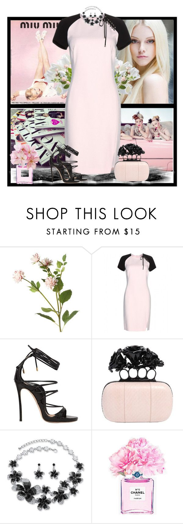 """""""Untitled #1000"""" by jothomas ❤ liked on Polyvore featuring moda, SANCHEZ, Miu Miu, OKA, Emilio Pucci, Dsquared2, Alexander McQueen ve Chanel"""
