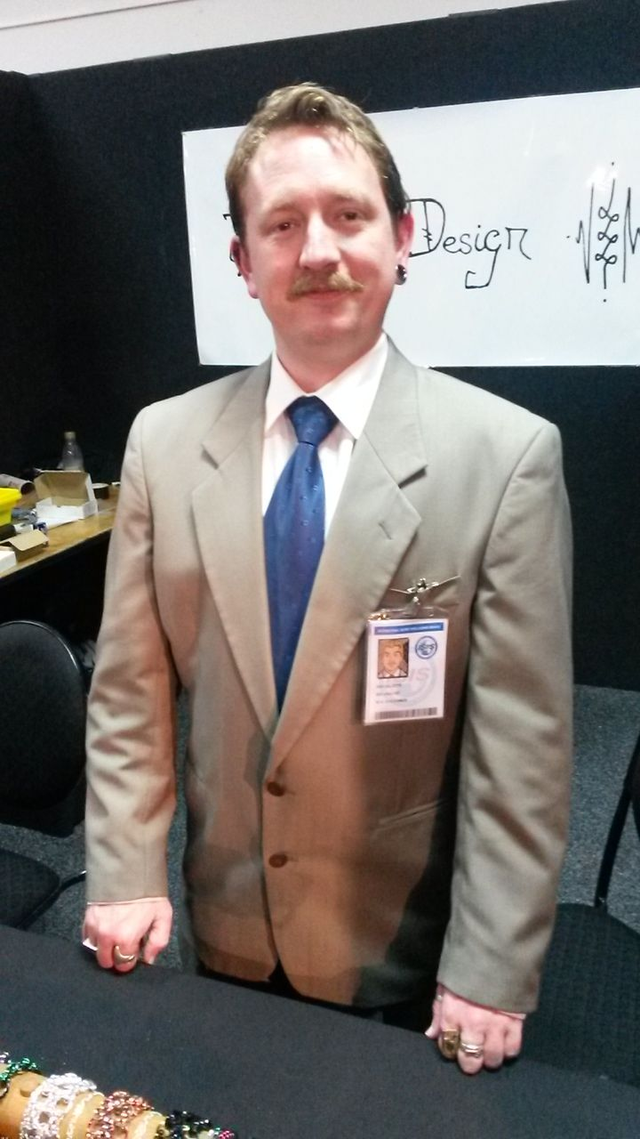 ray gillette from archer cosplay from armageddon expo 2015