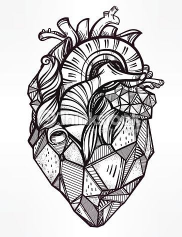 Heart Of Stone Highly Detailed Vintage Style Hand Drawn