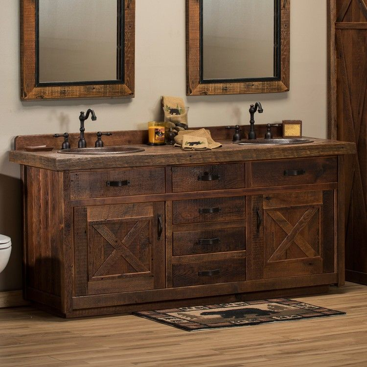reclaimed bathroom cabinet reclaimed barnwood barn door vanity log cabin 25131