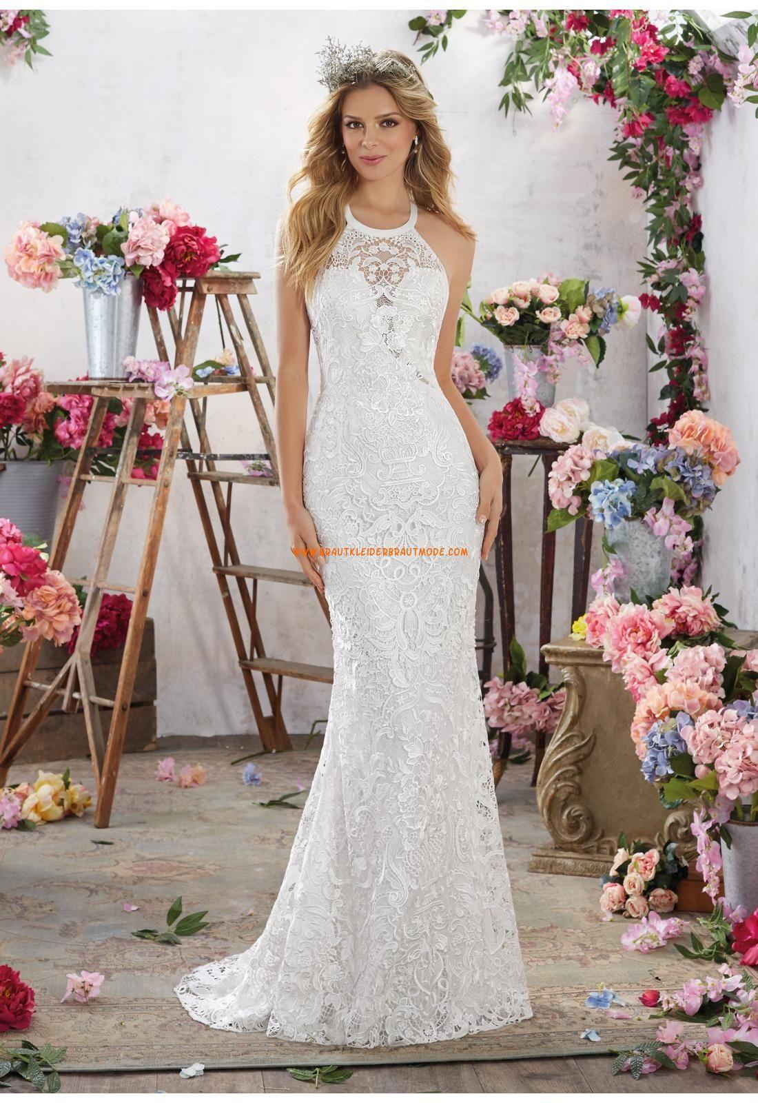 Meerjungfrau modische glamouröse brautkleider aus spitze mit