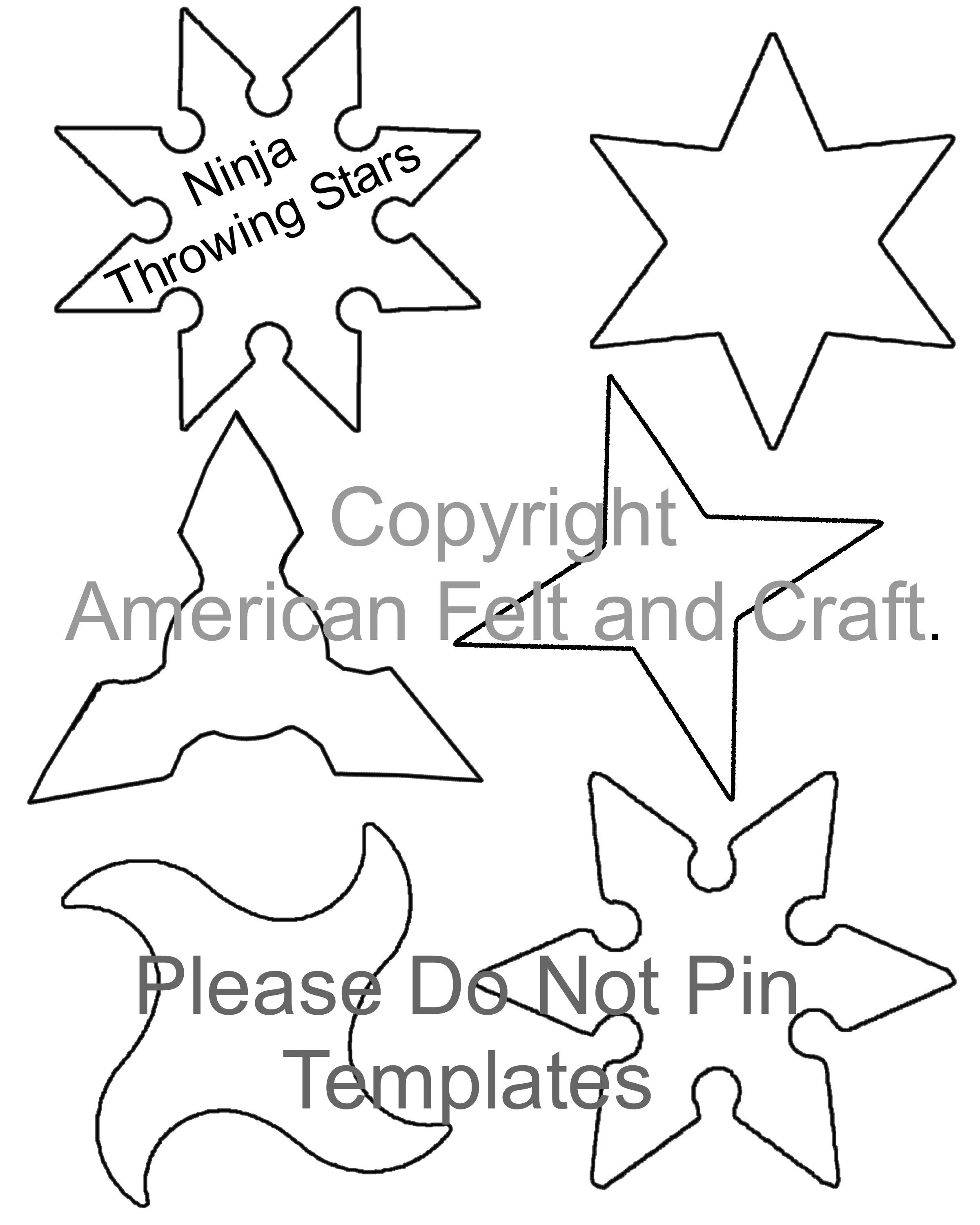 American Felt And Craft The Blog On Wordpress Com Throwing Stars Star Template Ninja Crafts