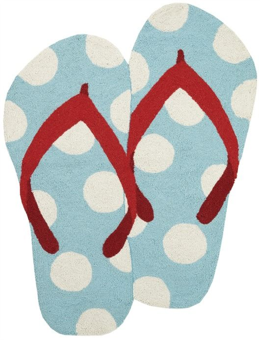 Flip Flop Shaped Rug With Images Blue Area Rugs Beach Rugs Rugs