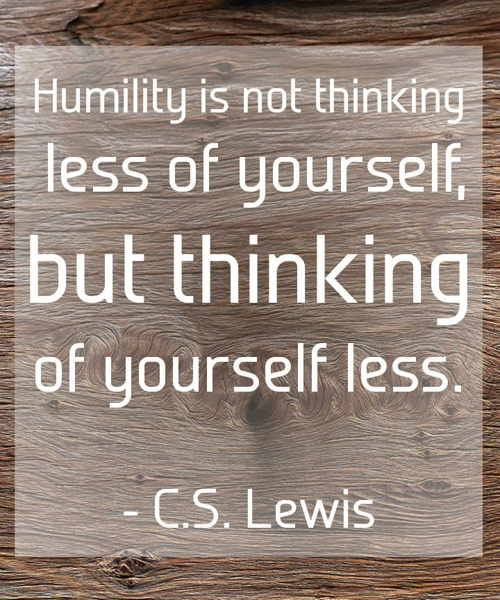 Essay on Humility.. What does it mean to you?